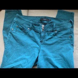 Torrid blue/Green jeans/ jeggings size 16